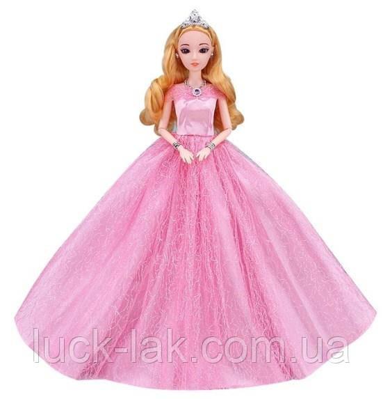 Пышное розовое платье для куклы Барби