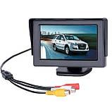 """Кольоровий автомобільний монітор 4,3"""" з 2-ма відеовиходами для камери заднього виду, фото 4"""