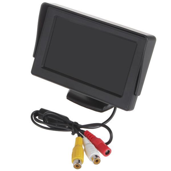 Монитор камера заднего вида. Цветной автомобильный монитор 5'' с 2-мя видеовыходами для камеры заднего вида