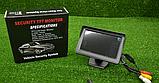 Цветной автомобильный монитор 4,3'' с 2-мя видеовыходами для камеры заднего вида, фото 7