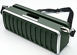Портативна Bluetooth колонка SPS X11S LCD, зелена, фото 3