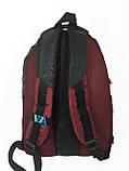 Рюкзак шкільний VA R-69-126, чорний-бордо, фото 2