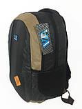 Рюкзак школьный VA R-69-127, черный-коричневый, фото 3