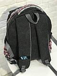 Рюкзак міський VA R-90-150, сірий, фото 4