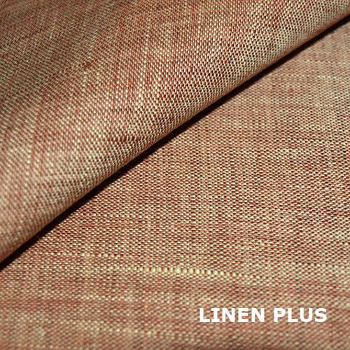 Каштанова натуральна лляна тканина, колір 44/373