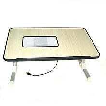 Подставка для ноутбука Laptop table A8 с кулером для охлаждения