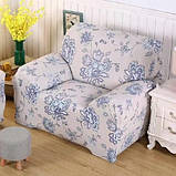 Чехол на кресло/полутрный диван натяжной Stenson R26296 90-145 см, фото 3