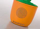 Портативная Bluetooth колонка Dancing Flower G26, оранжевая, фото 3