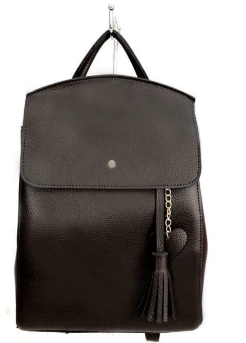 Молодежный сумка-рюкзак WeLassie 44605 с подвеской сердце, коричневый