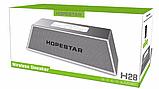 Портативная Bluetooth колонка SPS Hopestar H28, серебристая, фото 2