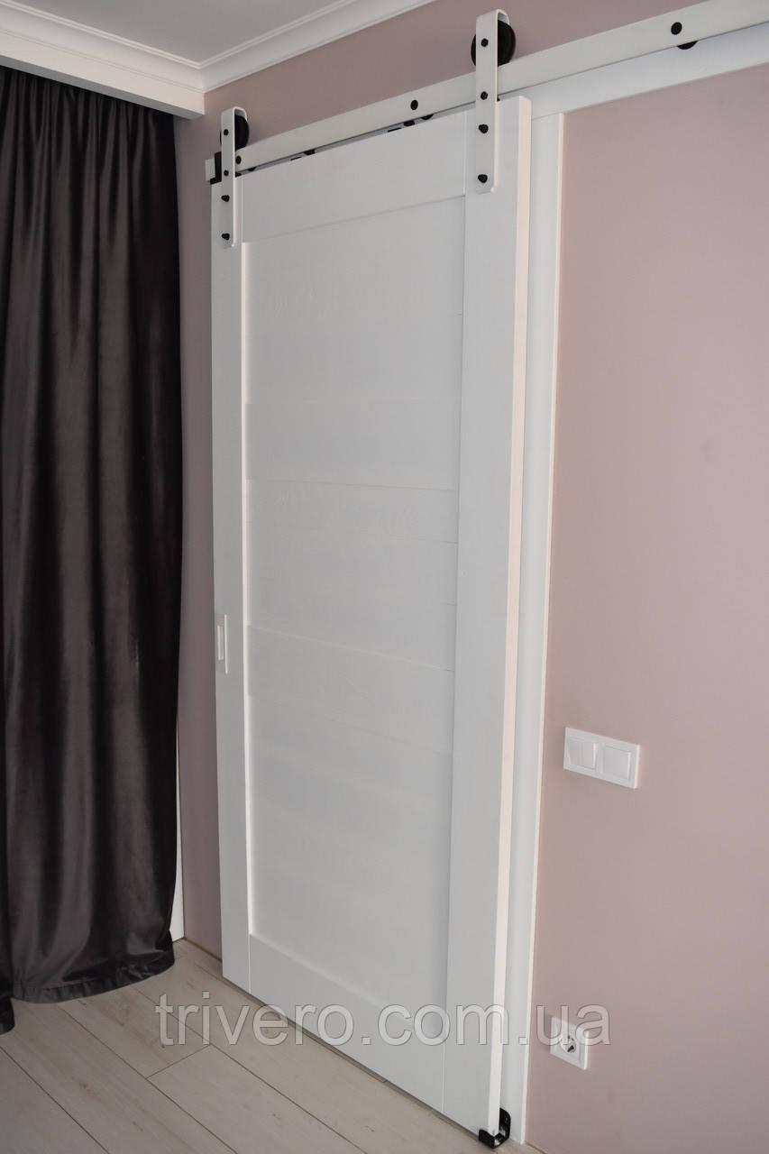 Амбарные двери лофт на раздвижном механизме