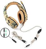 Ігрові навушники ONIKUMA K1-B з мікрофоном, жовтий камуфляж, фото 3