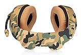 Ігрові навушники ONIKUMA K1-B з мікрофоном, жовтий камуфляж, фото 4