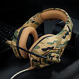 Ігрові навушники ONIKUMA K1-B з мікрофоном, жовтий камуфляж, фото 7