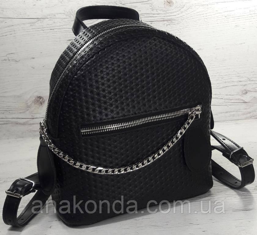 111-1 Натуральная кожа Городской рюкзак Кожаный рюкзак Из натуральной кожи Рюкзак женский черный рюкзак черный