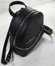 111-1 Натуральная кожа Городской рюкзак Кожаный рюкзак Из натуральной кожи Рюкзак женский черный рюкзак черный, фото 2