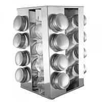 Для кухни спецовница UNIQUE UN-1304 16в1 квадрат набор для специй