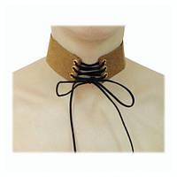 Чокер (choker) ожерелье,колье на шею шнуровка коричневый