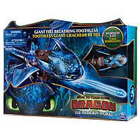 Фигурка Dragons Беззубик Как приручить дракона 3 дышит паром, светится (50см) оригинал Spin Master