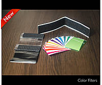 Цветные гелевые фильтры на внешнюю вспышку (12шт).