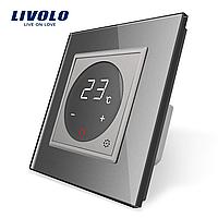 Терморегулятор Livolo для электрического теплого пола цвет серый (VL-C701TM-15), фото 1