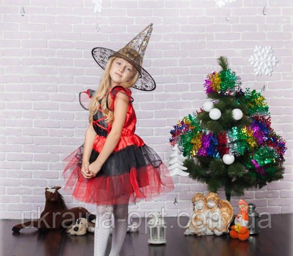 Карнавальный костюм ведьмы для девочки