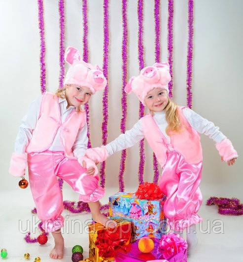 Детский новогодний костюм, Карнавальный костюм Хрюша  свинка свинья девочка