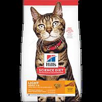 Hill's SP Feline Adult Light Chicken для взрослых кошек, нуждающихся в меньшем количестве калорий, 1.5 кг