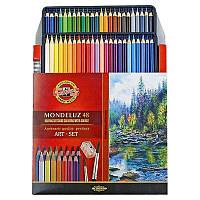 Карандаши цветные акварельные художественные Mondeluz. 48 цветов