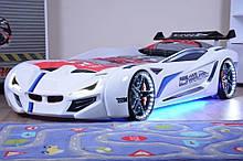 Кровать в виде машины BMW белая Турция
