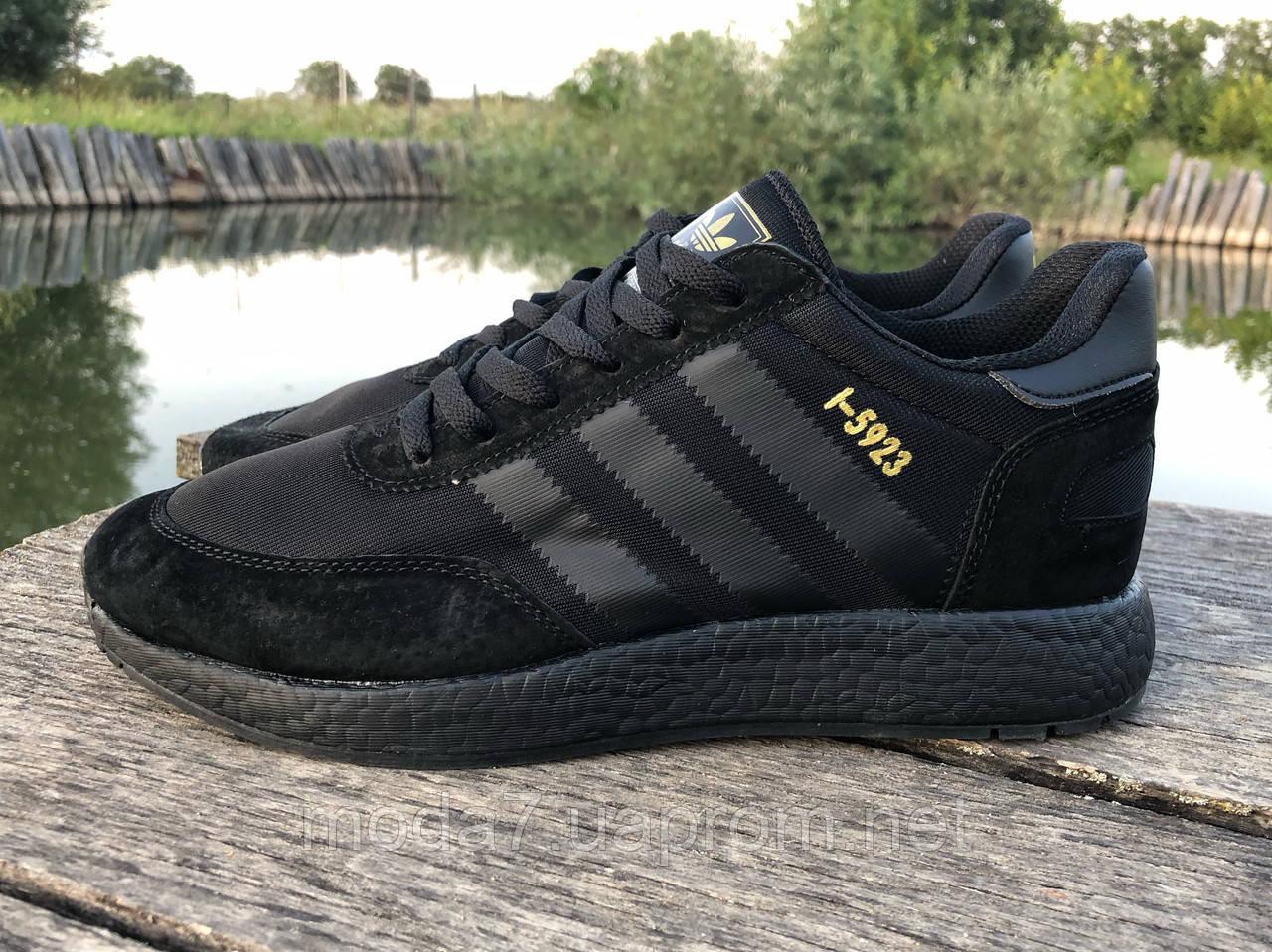 Кроссовки мужские черные Adidas Iniki реплика