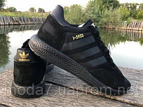 Кроссовки мужские черные Adidas Iniki реплика, фото 3