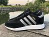 Кроссовки мужские черные Adidas Iniki реплика, фото 4