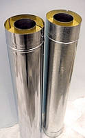 Труба утепленная с нержавейки ø150 220 мм 1 мм - в оцинковке L=1м