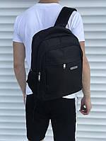Мужской рюкзак Huantu удобный малый портфель в черном цвете