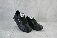 Кеды подростковые CrosSav 058 черные (натуральная кожа, весна/осень), фото 1