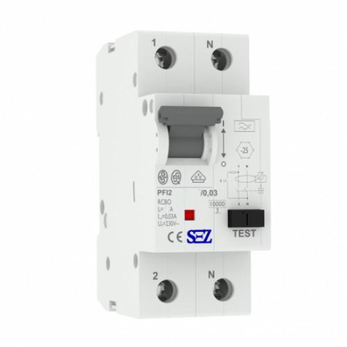 Дифференциальный автомат SEZ PFI2 32A 2p C 30mA