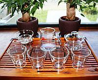 Набор посуды для чайной церемонии из стекла 7 предметов