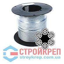 Трос оцинкованный в оболочке ПВХ, 6х19+FC, 5,0 мм, 100 м