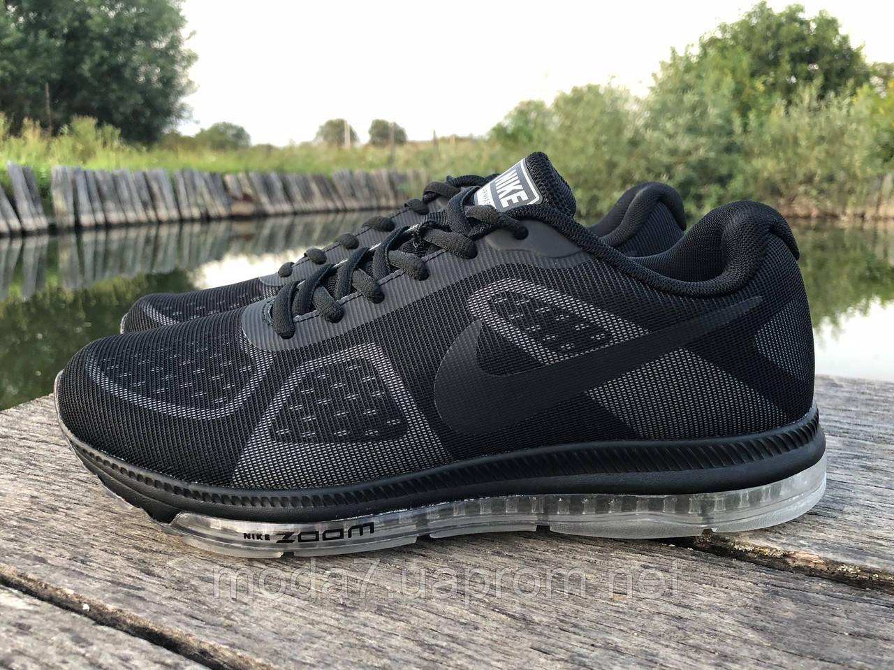 Кроссовки мужские черные Nike Zoom сетка реплика