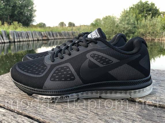 Кроссовки мужские черные Nike Zoom сетка реплика, фото 2