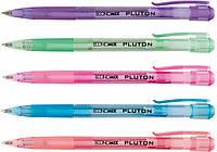 Ручка шариковая автомат. ECONOMIX PLUTON 0,5 мм. Корпус ассорти, пишет синим