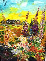 """Картина / масло """"Лето. Цветы"""""""