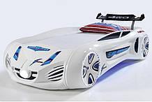 Кровать машинка Tesla Star белаяТурция