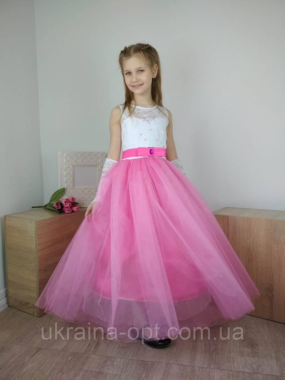 Детское бальное платье в пол