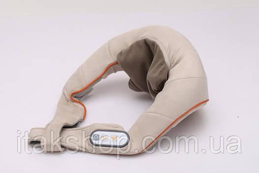 Массажер для шеи и шейного отдела позвоночника Zenet ZET-758 роликовый с прогревом, фото 2