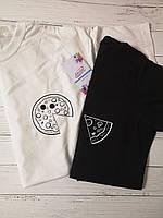 """Парные футболки """"Пицца"""""""