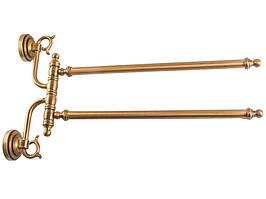 Тримач рушників подвійний Kugu Versace 242A, бронза