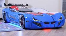 Кровать в виде машины BMW синяя Турция