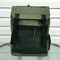 Рюкзак городской стильный качественный Esen green, цвет зеленый
